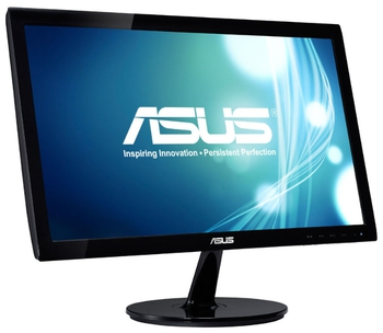 "купить 19.5"" Asus ""VS207T-P"", G.Black (1600x900, 5ms, 250cd, LED80M:1, DVI, 2x1W) в Кишинёве"