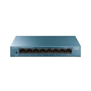 TP-LINK LS108G  8-port Gigabit Switch, 8 10/100/1000M RJ45 ports, steel case, LiteWave, Green Technology