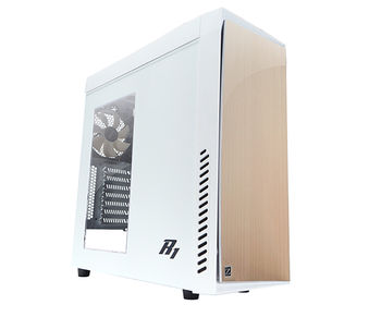 "ZALMAN ""R1 White"" ATX Case, with Side-Window, without PSU, Metal brush front door (with soundproof pad), Tool-less, 3 fans pre-installed (1x120mm Blue LED fan, 2x120mm fan), VGA/FAN multi guide, Fan-speed adj.switch, 1xUSB3.0, 2xUSB2.0 /Audio, White"