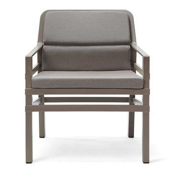 Кресло с подушками Nardi ARIA FIT TORTORA grigio Sunbrella 40330.10.136.FIT (Кресло с подушками для сада и терас)