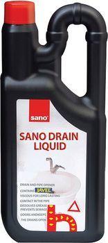 Средство для прочистки канализации Sano Drain Liquid 1 л