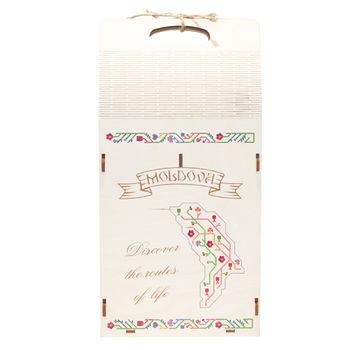 купить Коробка для двух бутылок вина, фанера - Древо Жизни 204 в Кишинёве