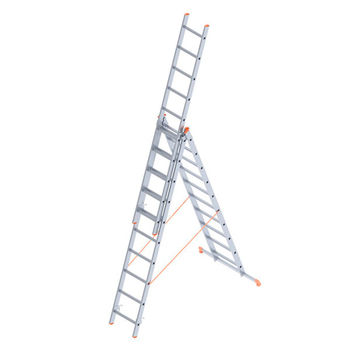 Лестница алюминиевая Sarayli Triple 3x10