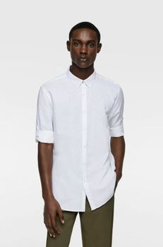 Рубашка ZARA Белый zara 7545/402/250