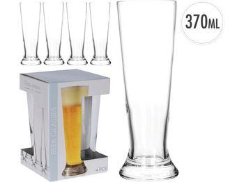 "Бокалы для пива ""Principe"" 4ед, 370ml, H20.5cm"