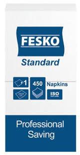 Салфетки Fesko Standart, 1 слой, 450 листов (белые)