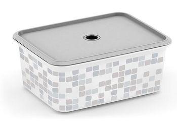 Коробка с крышкой с отверстием Mosaic, M, 29X22XH12cm