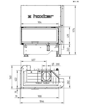 cumpără Focar HOXTER ECKA 90/40/40 Lh/Rh în Chișinău