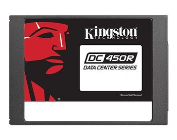 "2.5"" SSD 960GB  Kingston DC450R Data Center Enterprise, SATAIII, Read-centric, 24/7, SED, Sequential Reads:560 MB/s, Sequential Writes:530 MB/s, Steady-state 4k Read: 98,000 IOPS / Write: 26,000 IOPS, 7mm, Enterprise SMART tools, 3D NAND TLC"