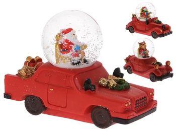 Сувенир шар со снегом Дед Мороз/ олень/ Снеговик на машине