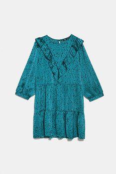 Платье ZARA Бирюзовый 4387/049/504