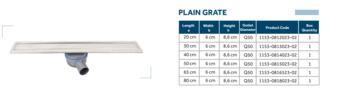 Линейный слив трап для душа без изоляционного подола Line 4-D 65cm Shower plain grate