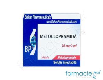 купить Metoclopramid sol. inj. 10 mg/2 ml N10 (Balkan) в Кишинёве