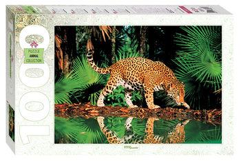 """Мозаика """"puzzle"""" 1000 """"Леопард у воды"""", код 40758"""