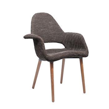 купить Мягкий стул с деревянными ножками, 730x610x940 мм, черный в Кишинёве