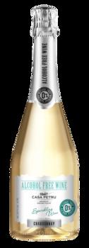 Белое Игристое полусладкое безалкогольное вино, 0.75 Л