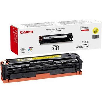 Cartridge Canon 731 (HP CF212A (131A)), yellow (1500 pages) for LBP7100C/ 7110C, MF-8230/8280 & HP LaserJet Pro 200 Color