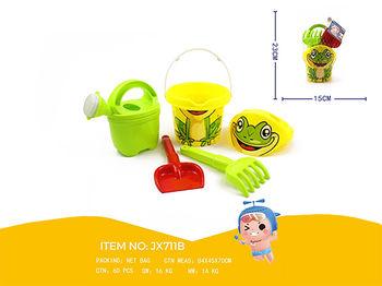 """Набор игрушек для песка в ведерке """"Лягушонок"""", 5 ед, H23cm"""