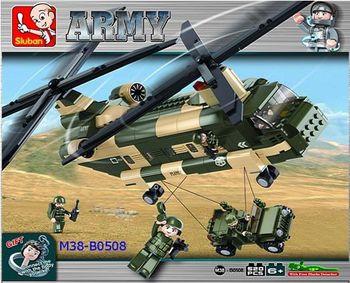 Sluban Конструктор вертолёт (520 деталей)