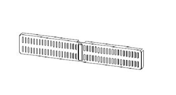 купить Perete perforat care se agata de usa 459x67x16 (mic), alb в Кишинёве