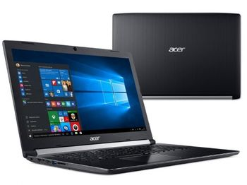 "cumpără ACER Aspire A317-51K Shale Black (NX.HEKEU.011) 17.3"" HD+ (Intel® Core™ i3-7020U 2xCore 2.3GHz , 8Gb (2x4) DDR4 RAM, 256GB PCIe SSD, Intel® UHD Graphics 620, w/o DVD, WiFi-AC/BT, 2cell, 0.3MP webcam, RUS, Linux, 2.8kg) în Chișinău"