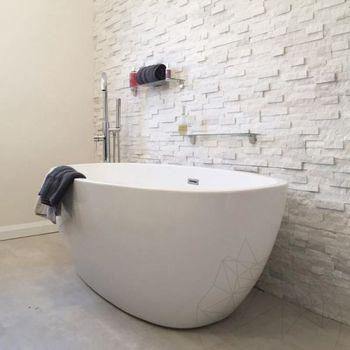 купить Мраморная панель Чистый белый 15 x 60 см в Кишинёве