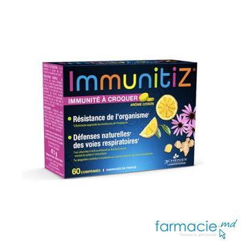 купить ImmunitiZ comp.masticab. N60, 6+, vit.C,D,Echinacea,Quercetin,Ghimbir 3Chenes в Кишинёве