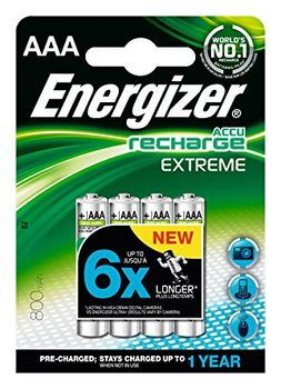 Energizer Rechargeable Extreme AAA NH12 800mAh BP2