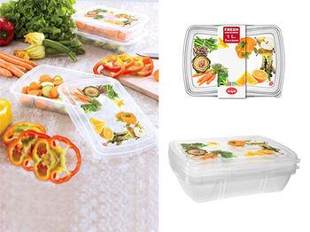 Set containere alimentare Snips 3cutii, 1l, 23X17X5cm
