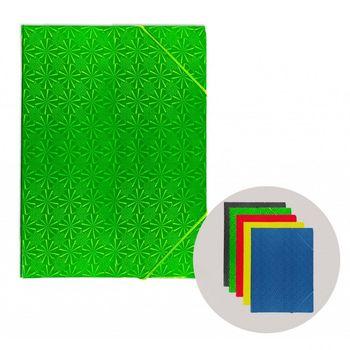 Папка на резинке A5 микс голография картон цветная