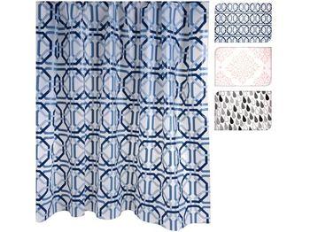 Набор шторка для душа 180Х180cm и коврик для ванной 140Х60cm