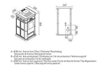Печь пеллетная - ALINA 9 кВт