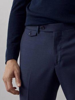 Брюки Massimo Dutti Темно синий 0077/313/400
