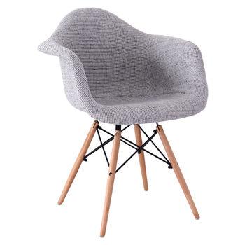 купить Мягкий стул с деревянными ножками, 460x640.5x480x800 мм, серый в Кишинёве