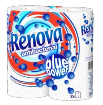 """купить RENOVA Бумажные полотенца """"Antibacterial"""" белые (2) 8004206 в Кишинёве"""