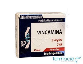 купить Vincamina sol. inj.7,5 mg/ml 2 ml N10 (Balkan) в Кишинёве