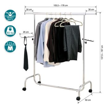 купить Cтойка для одежды сверхмощная с боковыми выдвижными планками 13339 в Кишинёве