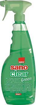 cumpără Sano Clear Green Solutie pentru curatat geamuri (750 ml) 990610 în Chișinău