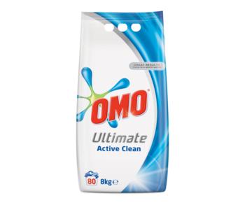 Стиральный порошок Omo Ultimate Active Clean, 8 кг.