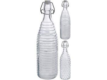 Бутылка с зажимной крышкой EH 32cm, ребристая