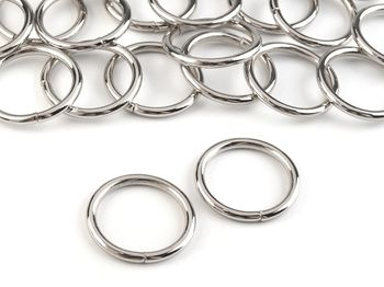 Inel metalic, Ø20 mm, argintiu