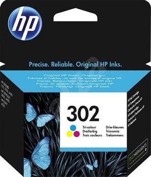 HP 302 Tri-color Original Ink Cartridge