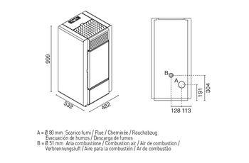 Печь пеллетная - FIAMMA 13 кВт