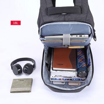 """купить Рюкзак Антивор Tigernu T-B3335 для ноутбука 15.6"""", с USB портом, водонепроницаемый, серый в Кишинёве"""