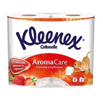 Туалетная бумага Kleenex Strawberry, 4 рулонов, трехслойная