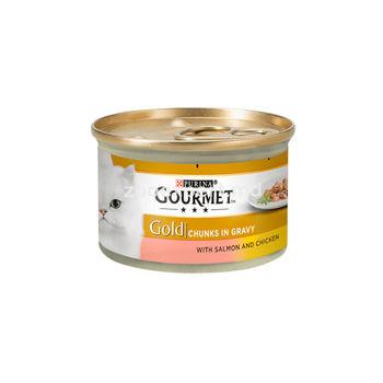 Gourmet Gold курица и лосось 85 gr