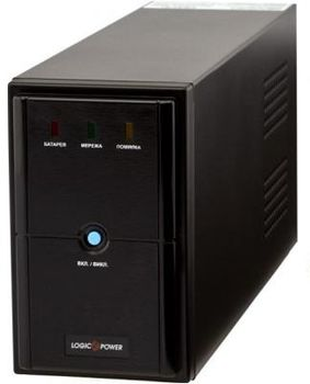 LogicPower LPM-U825VA, Line-interactive UPS, 825VA  / 577W, AVR, 2x Schuko outlets, USB, RJ-11, AVR: 145-290V, Battery: 12V/9 AH x 1, Cold start function, Metal case, Black