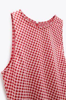 Платье ZARA Красный в клетку 4215/418/061