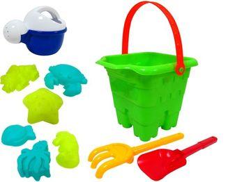 Набор игрушек для песка в ведерке 10ед, 17X17cm