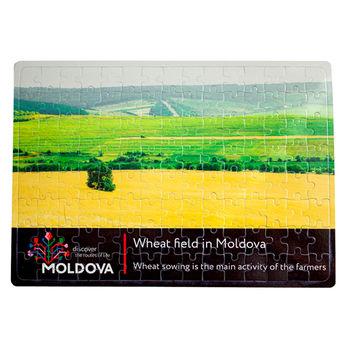 cumpără Puzzle A4 – Câmp de grâu în Moldova în Chișinău